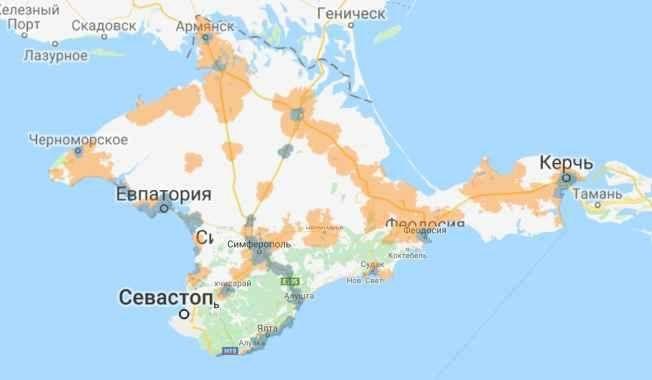Карта Крыма и Севастополя