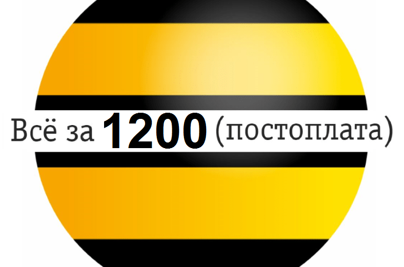 Все за 1200 тариф Билайн описание