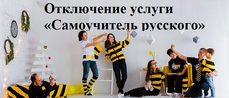 Как отключить услугу самоучитель русского на Билайне